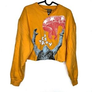 Destroy BYC | Yellow | Cropped | Pullover | Top